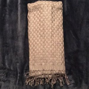 Gray Scarf with silver thread
